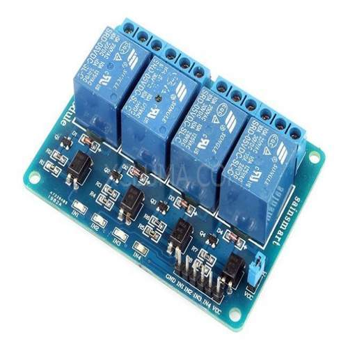 4 CHANNEL 5V RELAY BOARD MODULE RELAY EXPANSION BOARD FOR ARDUINO RASPBERRY