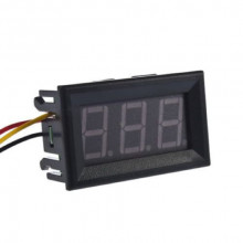 0-100V (99.9V) DC DIGITAL VOLTMETER PANEL DC .56 inch RED LED BIKE CAR