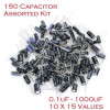 150 PCS 15 VALUES ELECTROLYTIC CAPACITORS ASSORTED KIT FOR ELECTRONIC DIY