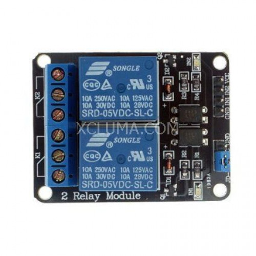 2 CHANNEL 5V RELAY BOARD MODULE RELAY EXPANSION BOARD ARDUINO RASPBERRY