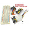 65 Pcs MALE TO MALE JUMPER WIRES+MB102 BREADBOARD 830P+MB102 POWER SUPPLY