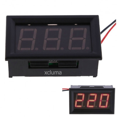 0. 56-Inch AC AC80-380V Two-Wire Digital Display AC Voltmeter, Red