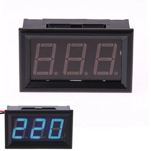 0. 56-Inch AC AC80-380V Two-Wire Digital Display AC Voltmeter, Blue