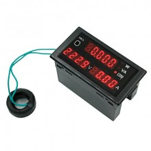 Multi Functional AC 200V to 450V LED Voltmeter Ammeter with Active and Apparent Power and Power Factor 5 in 1 Single Three Phase