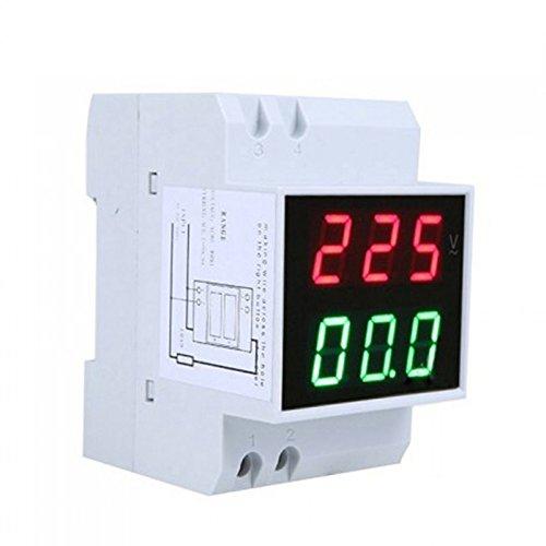 AC 200V to 450V AC 100Amp Digital AC Voltmeter Alternationg Voltage Current Meter DIN Rail Single Three Phase