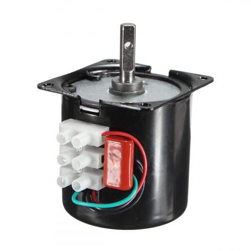 60KTYZ 220V 2.5r/min 2.5 Turn per Minute 14W 14 Watt Permanent Magnetic Electric Gear Motor 50Hz Incubator Motor
