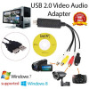 Easier Cap USB 2.0 Capture Card Video TV DVD VHS Audio Capture Card 3 in 1 VHS to DVD Adapter Converter PC PS3 Xbox for Win 7 8 10