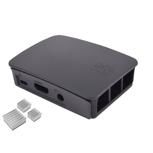 Case for Raspberry PI (Comptaible for Raspberry PI 3 Model B Only) Black with Heatsink