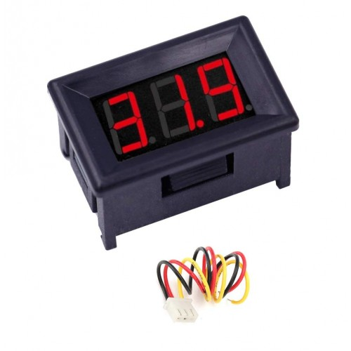 0-100V (99. 9V) DC Digital Voltmeter Panel DC. 36 Inch (Smaller to 0.56inch Model) LED Bike Car, Red