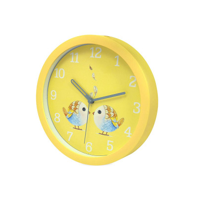 8 Inches 20Cm Wall Clock Kids Room, Girls Room, Home, Living Room, Bedroom, Smooth Movement Yellow