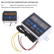 XH-W1411 w1411 temperature controller Incubator Thermostat Control Probe, Incubator Temperature Controller with Plastic Casing (12V DC Input Voltage)