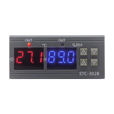 STC-3028 STC3028 Digital Temperature Humidity Controller Home Fridge Thermostat Hygrometer Control Switch AC 110 220V