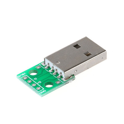 USB male to Dip 2.54mm DIP 4pin to DIP adapter board