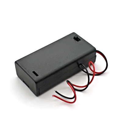2 AA 3V in series battery box with switch with cover