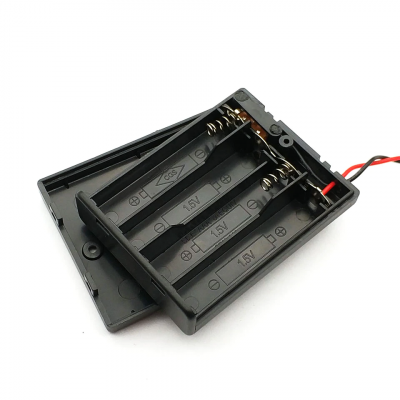 4 AA 6V in series battery box with switch with cover