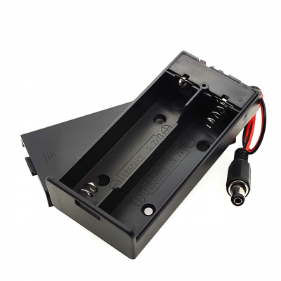 18650 2 battery box with cover with switch with DC head