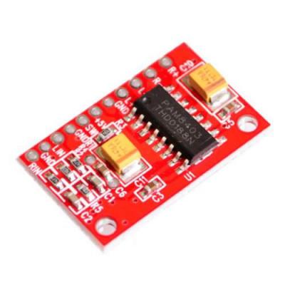 2 CHANNELS 3 WATT PAM8403 CLASS D AUDIO AMPLIFIER BOARD 5V USB POWER