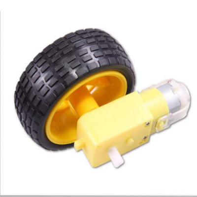 SMART CAR ROBOT PLASTIC DC 3V 5V 6V DRIVE GEAR MOTOR WITH TIRE ARDUINO