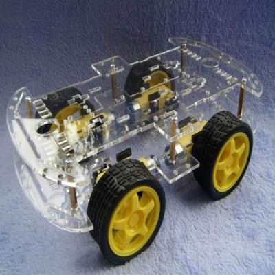 4WD ROBOT SMART CAR CHASSIS KIT FOUR WHEEL DRIVE DC 3V 5V 6V for ARDUINO