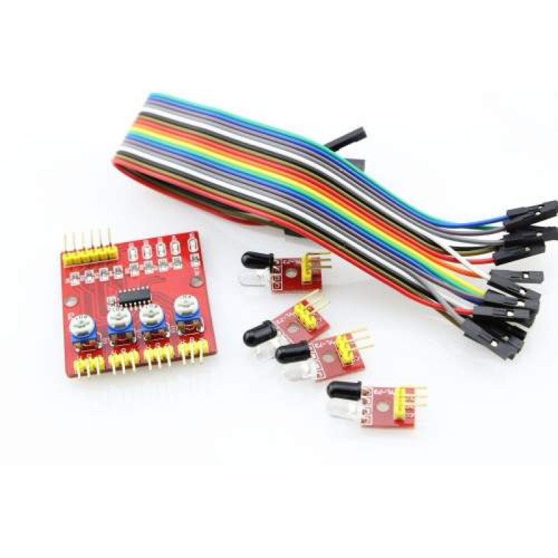 four way 4 channel infrared detector tracing transmission linefour way 4 channel infrared detector tracing transmission line obstacle avoidance sensor module for arduino diy smart car robot