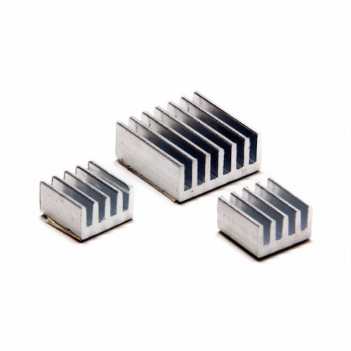 Aluminum 3 Piece Raspberry Pi Heatsink Kit