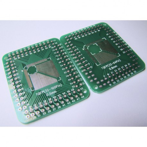SMD FQFP TQFP LQFP 32 44 64 80 100 Pins to DIP Adapter PCB Board