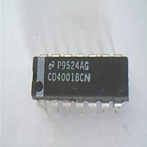 4001 CD4001BCN Quad 2-Input NOR Gate