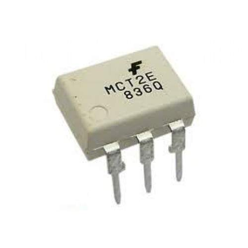 MCT2E Optocoupler with Base Lead for Transistor Biasing
