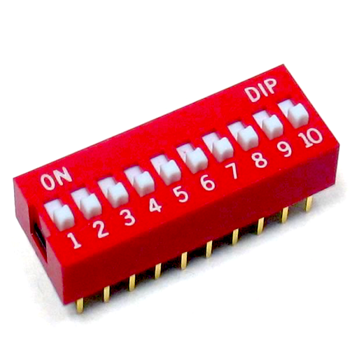 10 Positions DIP Switch