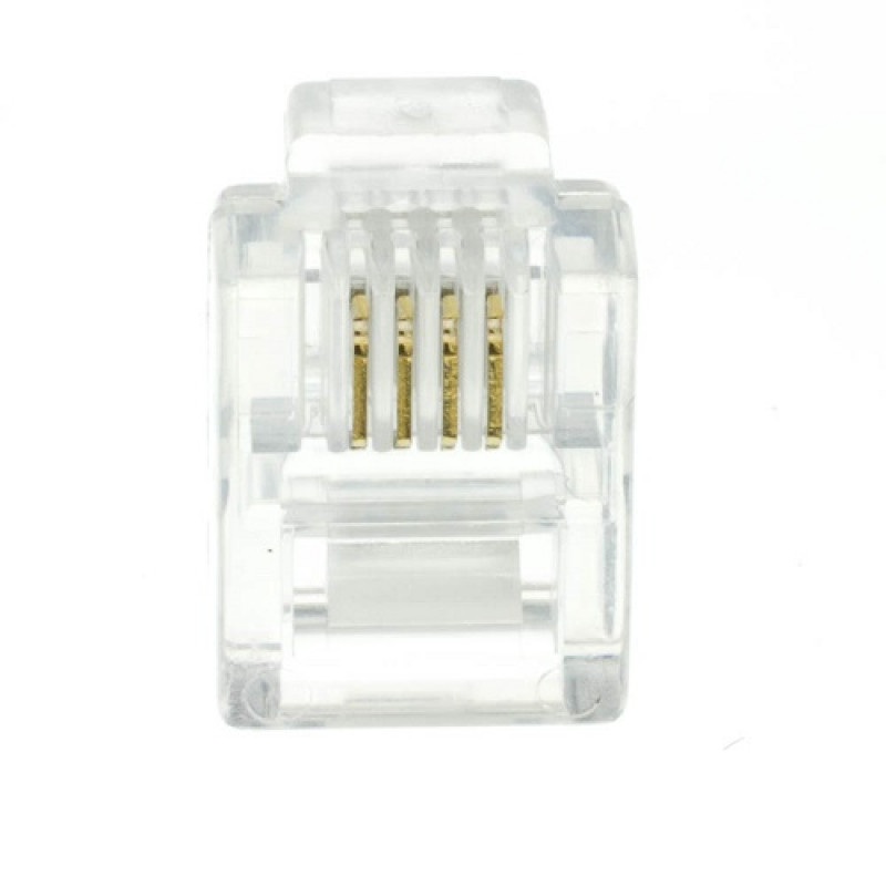 Rj11 Male Plug 6p4c Connector 2 Line Phone Connector