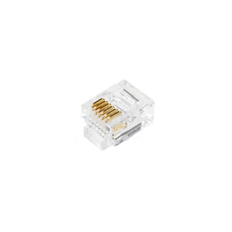 Rj12 Male Plug 6p6c Connector 3 Line Phone Connector
