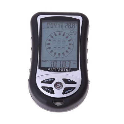 8-In-1 Digital Compass Altimeter Barometer Thermometer Weather Forecast