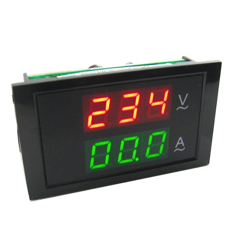 Digital AC Dual Display 300V 50A Volt Amp LED Panel Meter W Current Transformer