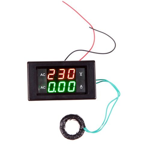 AC 500V 50A Digital Voltmeter Ammeter LED Amp Volt Meter Blue LCD back light Digital Display