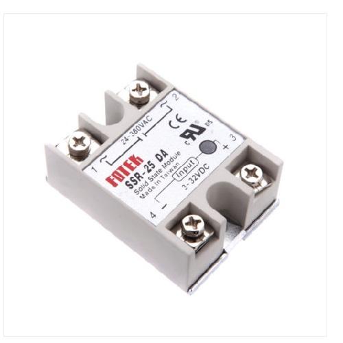 Solid State Relay Module SSR-25DA 25A /250V 3-32V DC Input 24-380VAC Output
