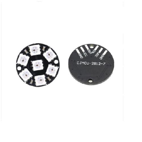 WS2812 7-Bit 5050 RGB Lamp Panel Round LED Board