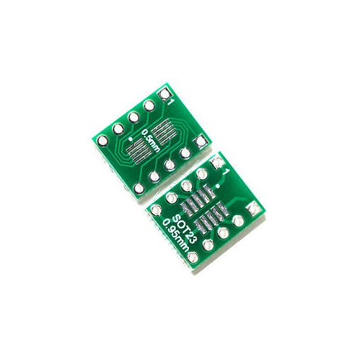 Sot23 msop10 umax to dip10 adapter board 0.5mm 0.95mm pitch PCB