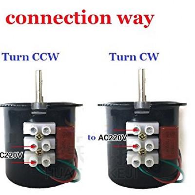 68KTYZ 220V 2.5r/min 2.5 Turn per Minute 28W 28 Watt Permanent Magnetic Electric Gear Motor 50Hz Incubator Motor