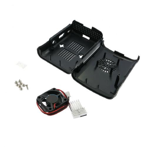 Raspberry pi 2 Model B/B+ ABS Blob case with mini FAN (Black)