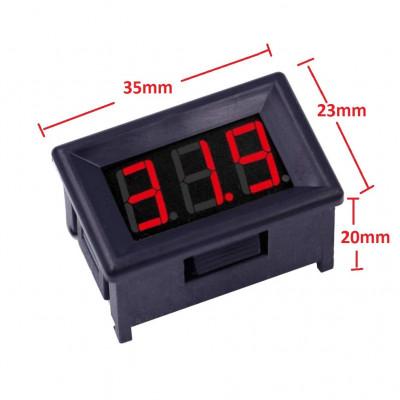 0-100V (99. 9V) DC Digital Voltmeter Panel DC. 36 Inch (Smaller to 0.56inch Model) LED Bike Car, Red