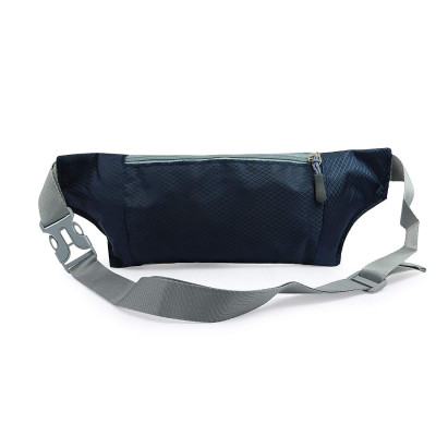 Mens and Womens Polyester Waterproof Hiking Running Outdoor Sports Bum Waist Pouch Bag with Belt and Zip (Dark Blue)