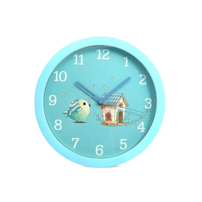 8 Inches 20Cm Wall Clock Kids Room, Girls Room, Home, Living Room, Bedroom, Smooth Movement Light Blue