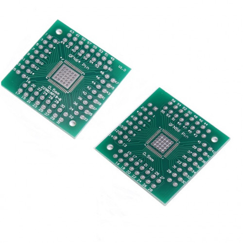 QFN56 QFN64 transfer board QFN turn to insert 0.5mm pin pitch PCB