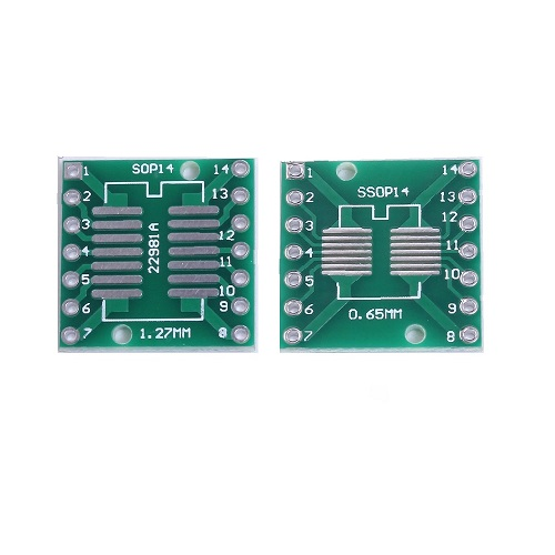 SOP14 transfer board SSOP14 TSSOP14 patch to DIP DIP 0.65 / 1.27mm adapter board PCB