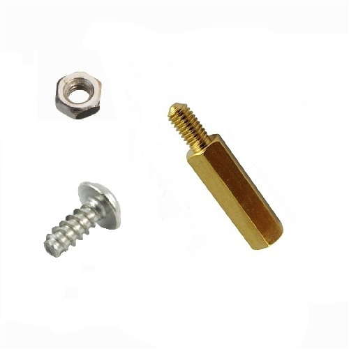 M2.5 10MM X 6MM HEXAGONAL SPACER WITH SCREW AND NUT SET