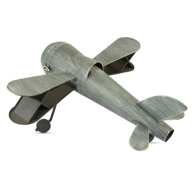 Metal Airplane Shape Table Top Metal Clock