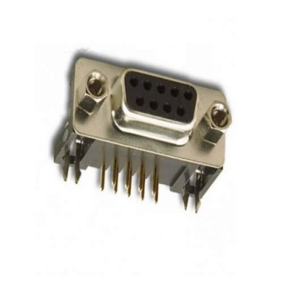 DB9 Female Right angle PCB mount Connector-9 pin