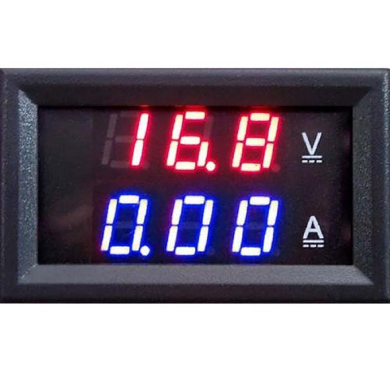 Digital Voltmeter Ammeter Dc 0 100v 10a Dual Led Red Blue