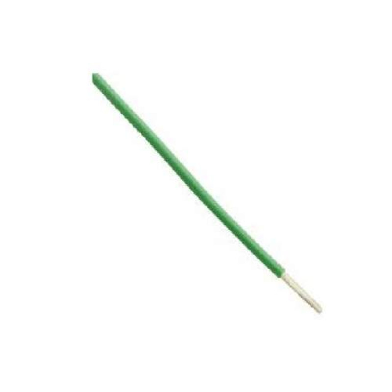 Hookup Wire - 22 Gauge Single Solid Green - 1 Meter