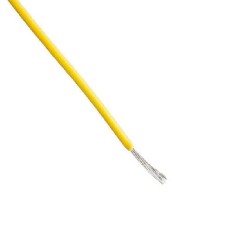 Hookup Wire - 22 Gauge Single Solid Yellow - 1 Meter